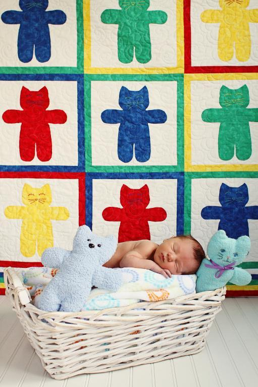 Kitties 9 Lives Baby Quilt