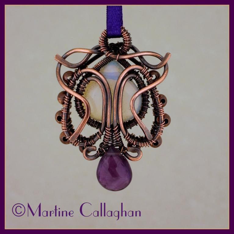 Twist and Turn Wire-Wrapped Pendant
