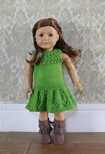 "18"" Doll Rose Dress Knitting Pattern"