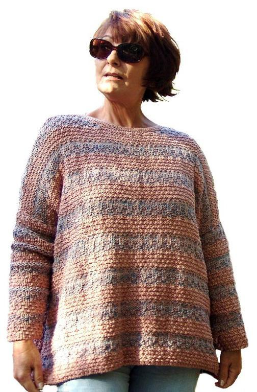 Boyfriend Sweater Knitting Pattern
