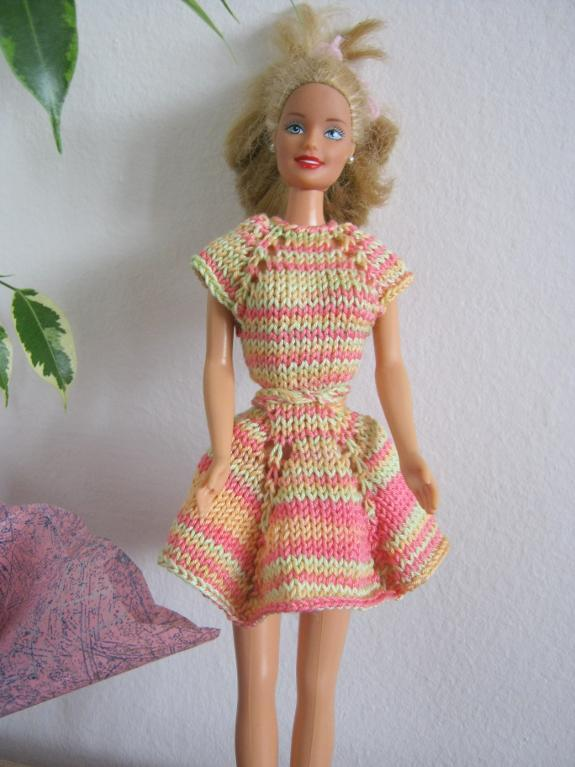 Cotton Candy Barbie Dress Knitting Pattern