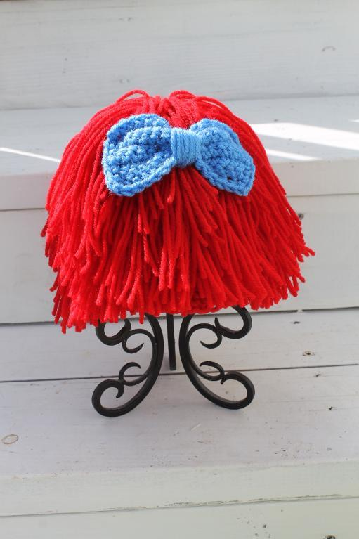 Crochet Wig and Bow Pattern