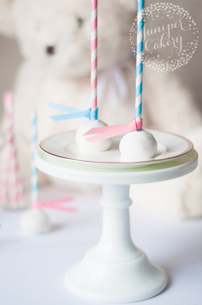 How to make easy cake pops for a gender reveal baby shower