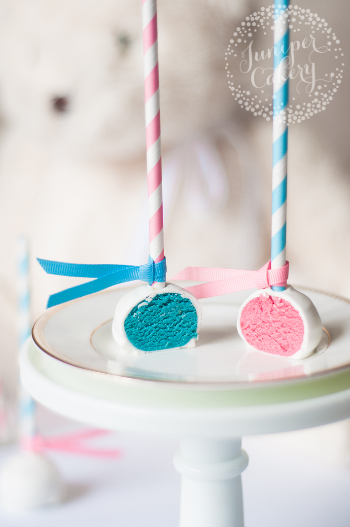 Fun tutorial for adorable gender reveal cake pops