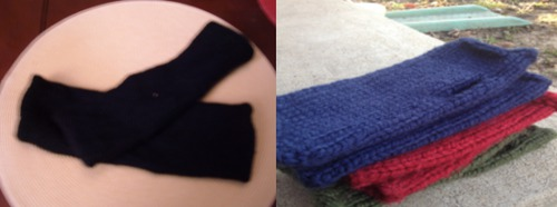 handknit projects