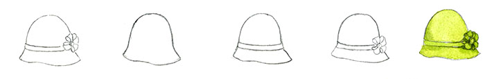 Learn to draw a cloche hat