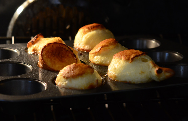 Muffin-Pan Popovers in the Oven