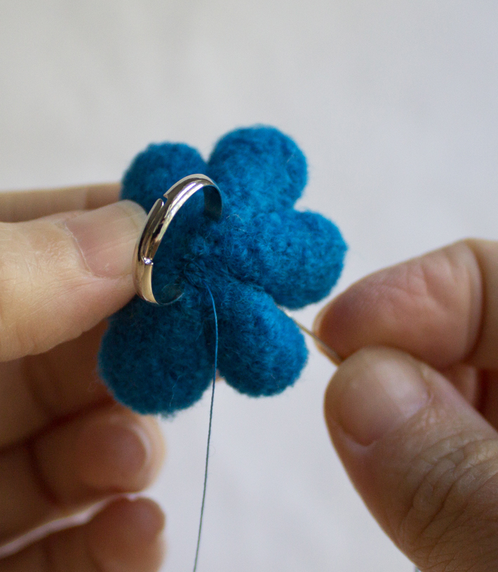 sew the petals