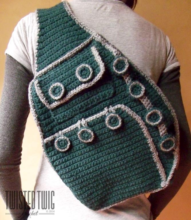 shoulder backpack crochet pattern