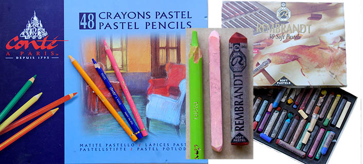 types of soft and medium pastels