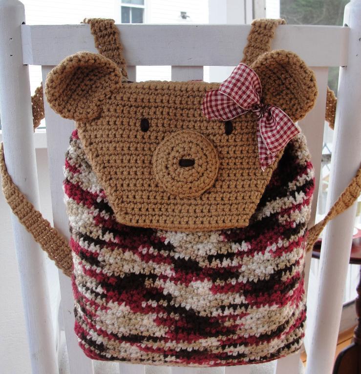teddy bear crochet backpack