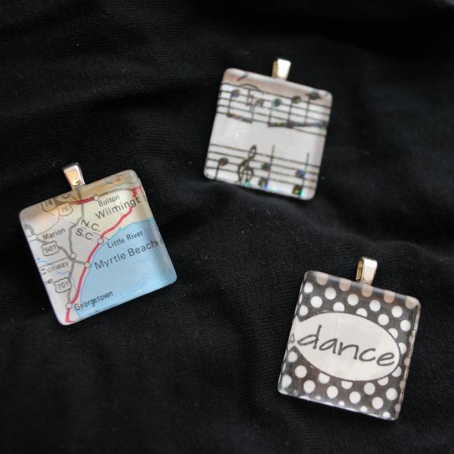 Glass Tile Necklaces