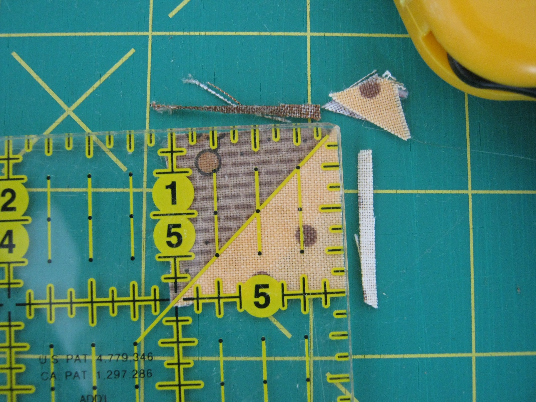 trimming half square triangles