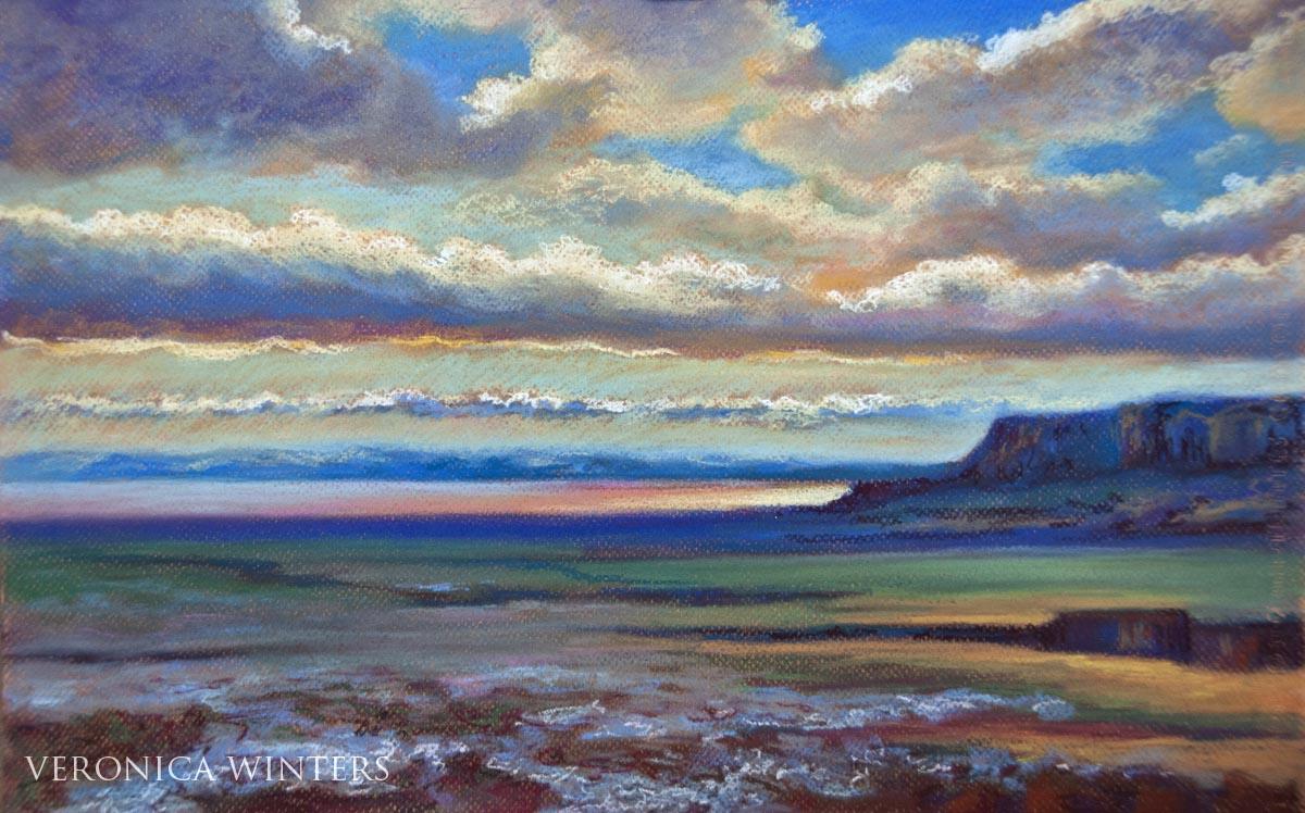 soft pastels painting