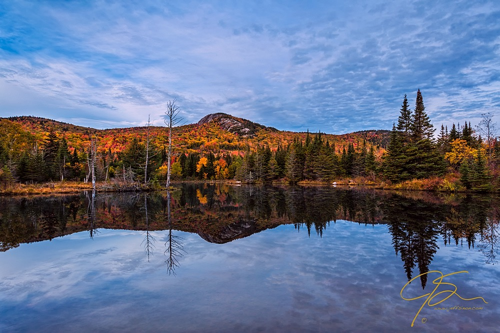 Early morning on Wildlife Pond in New Hampshire's White Mountains