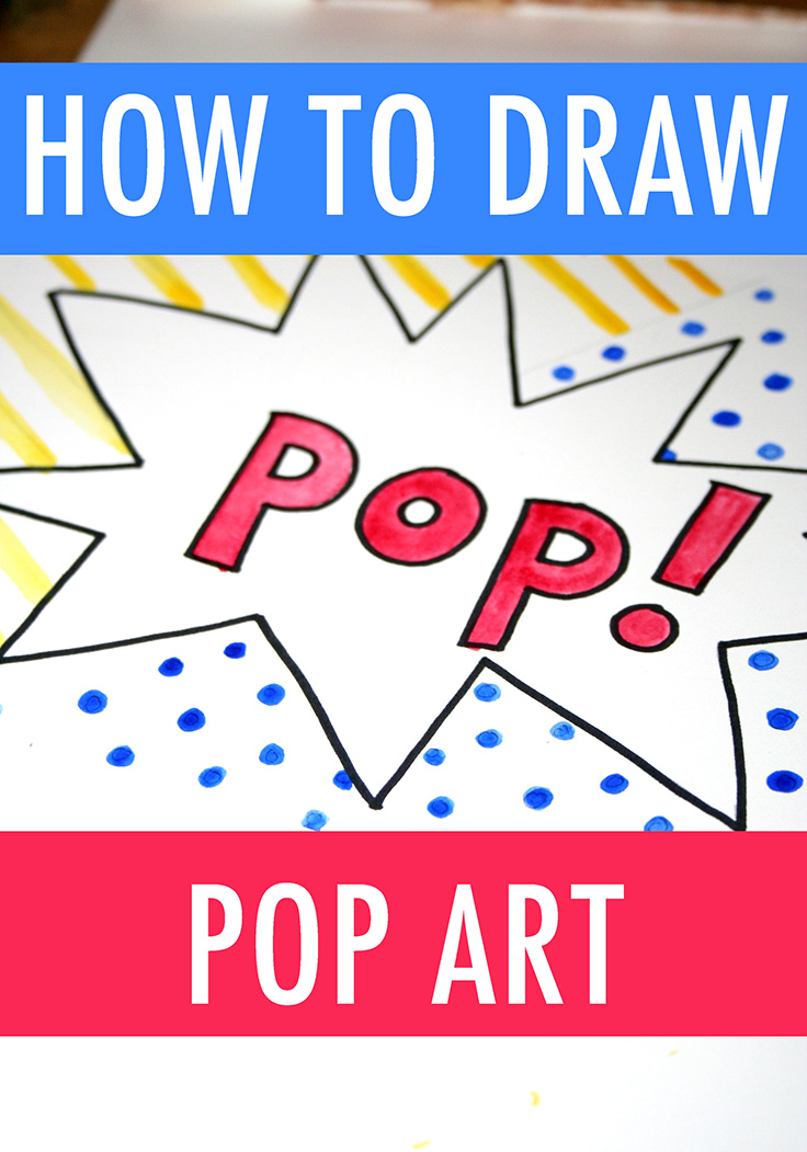 How to draw pop art