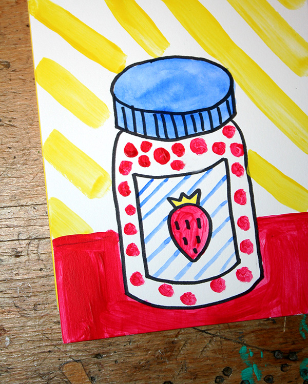 Roy Lichtenstein style pop art