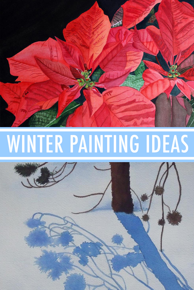 Winter painting ideas
