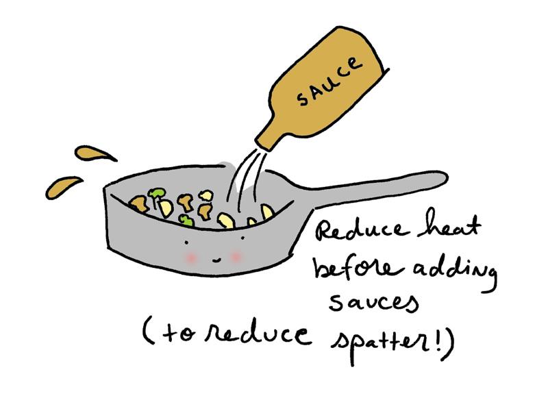 Adding sauce