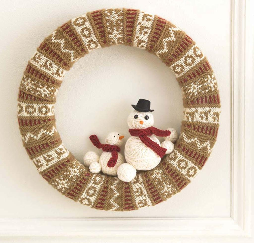 Holiday Stranded Wreath Knitting Kit