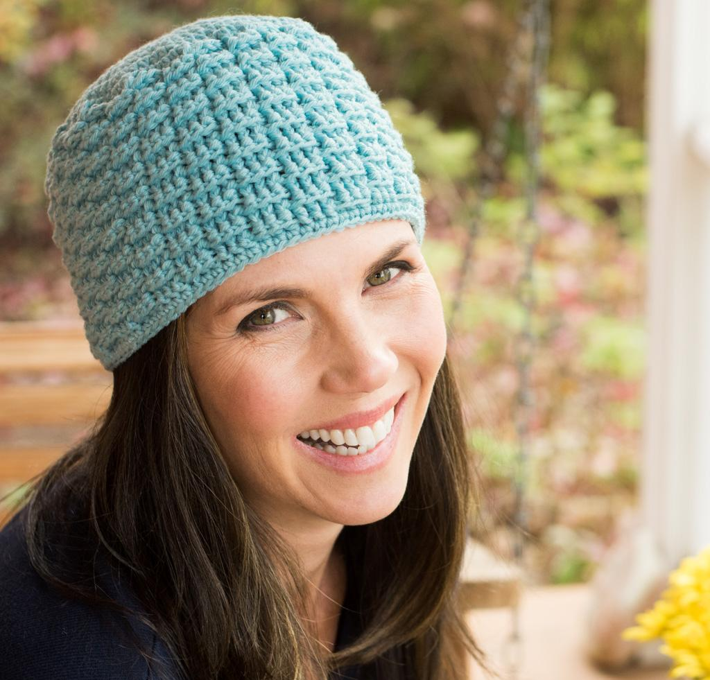 Petite Basketweave Beanie Crochet Kit