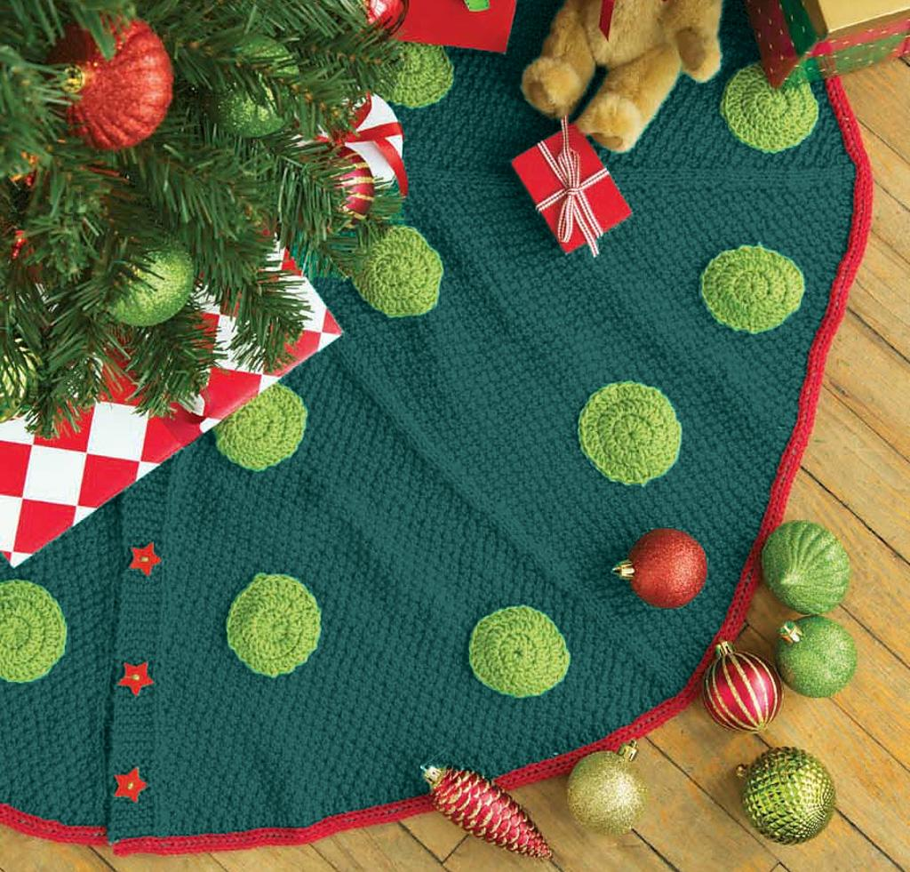 Universal Christmas Tree Skirt Knitting Kit