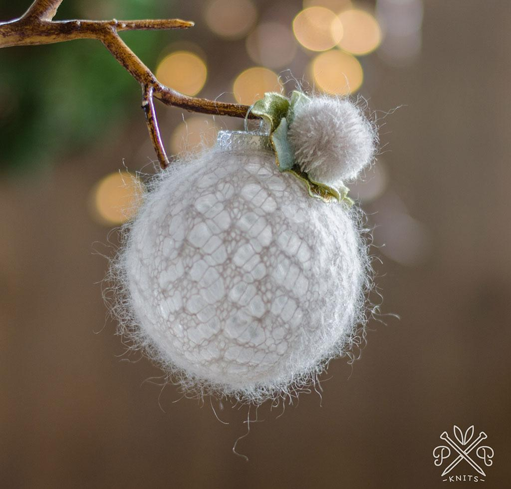 Snowball Ornament Knitting Kit