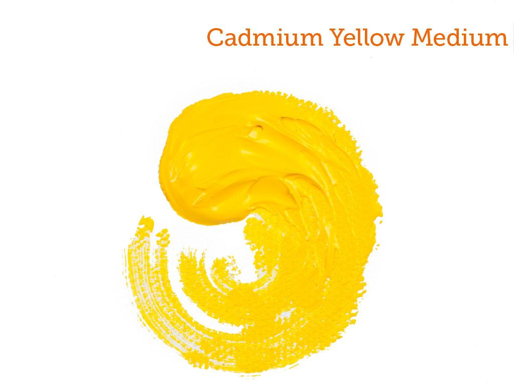 Cadmium Yellow Medium Acrylic Paint