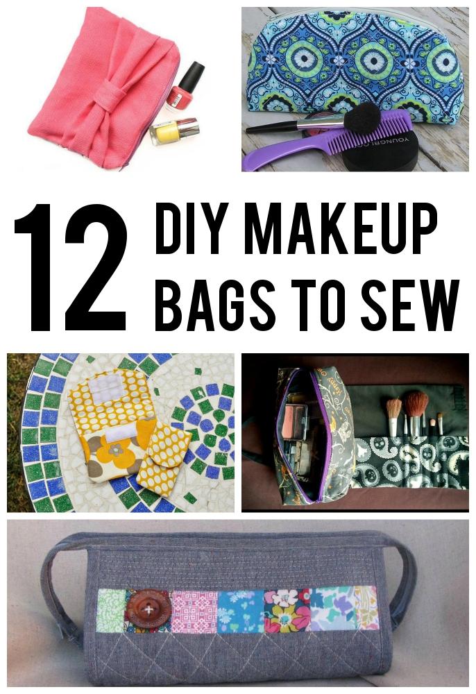 12 DIY Makeup Bags