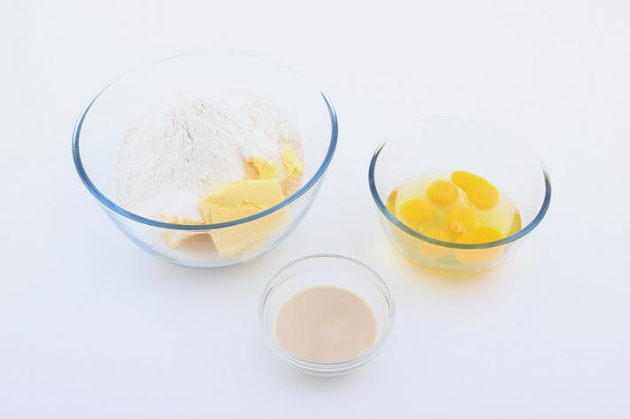 Assemble cupcake ingredients