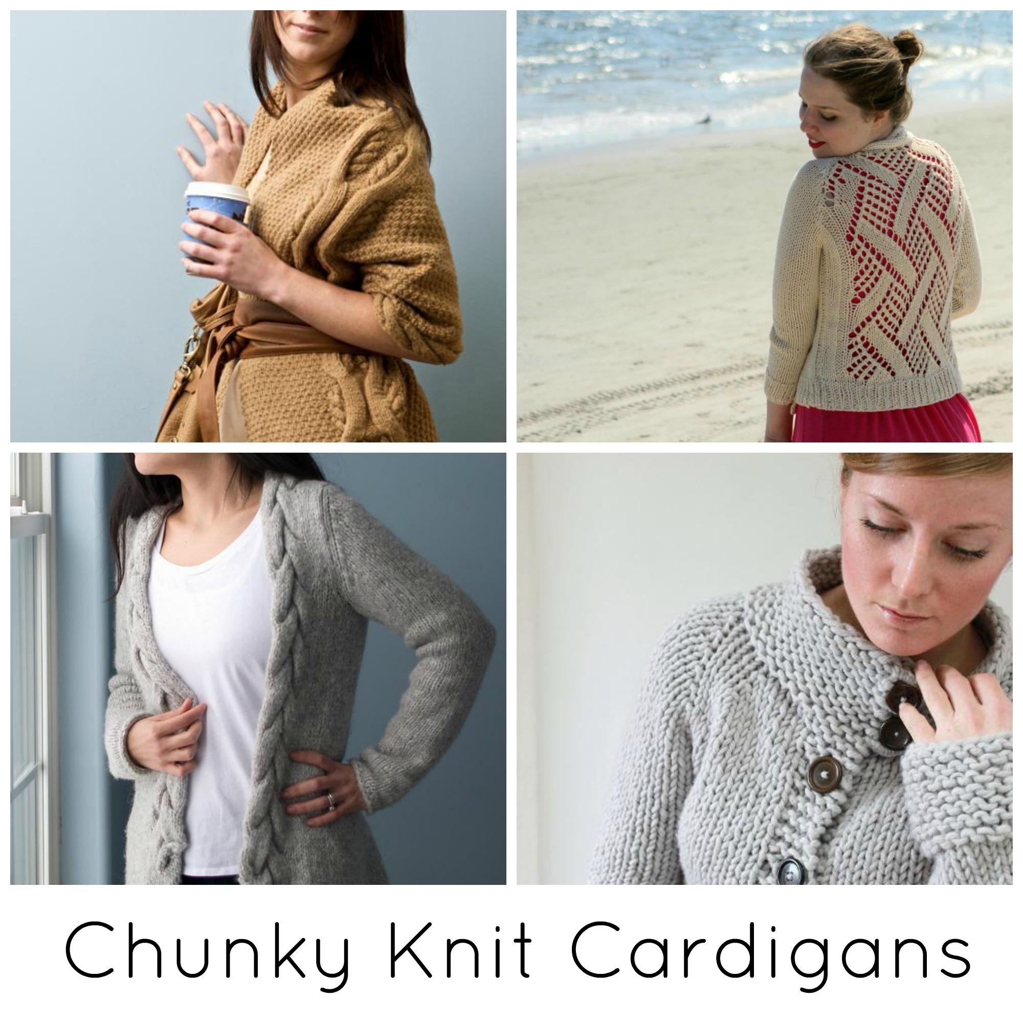 Chunky Knit Cardigan Patterns
