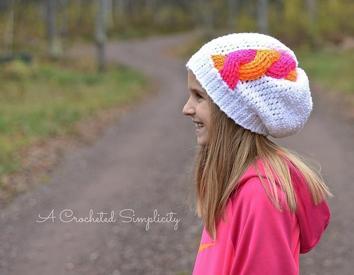 Crochet that looks like knitting cable hat