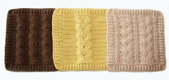 Crochet that looks like knitting cable sample dishcloths pattern