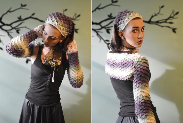 Dragon scales shrug for how to crochet a shrug
