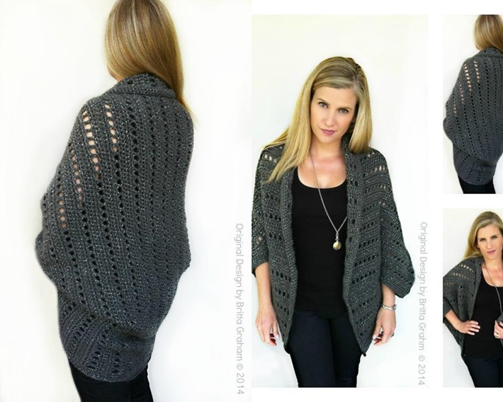 Easy chunky shrug for how to crochet a shrug