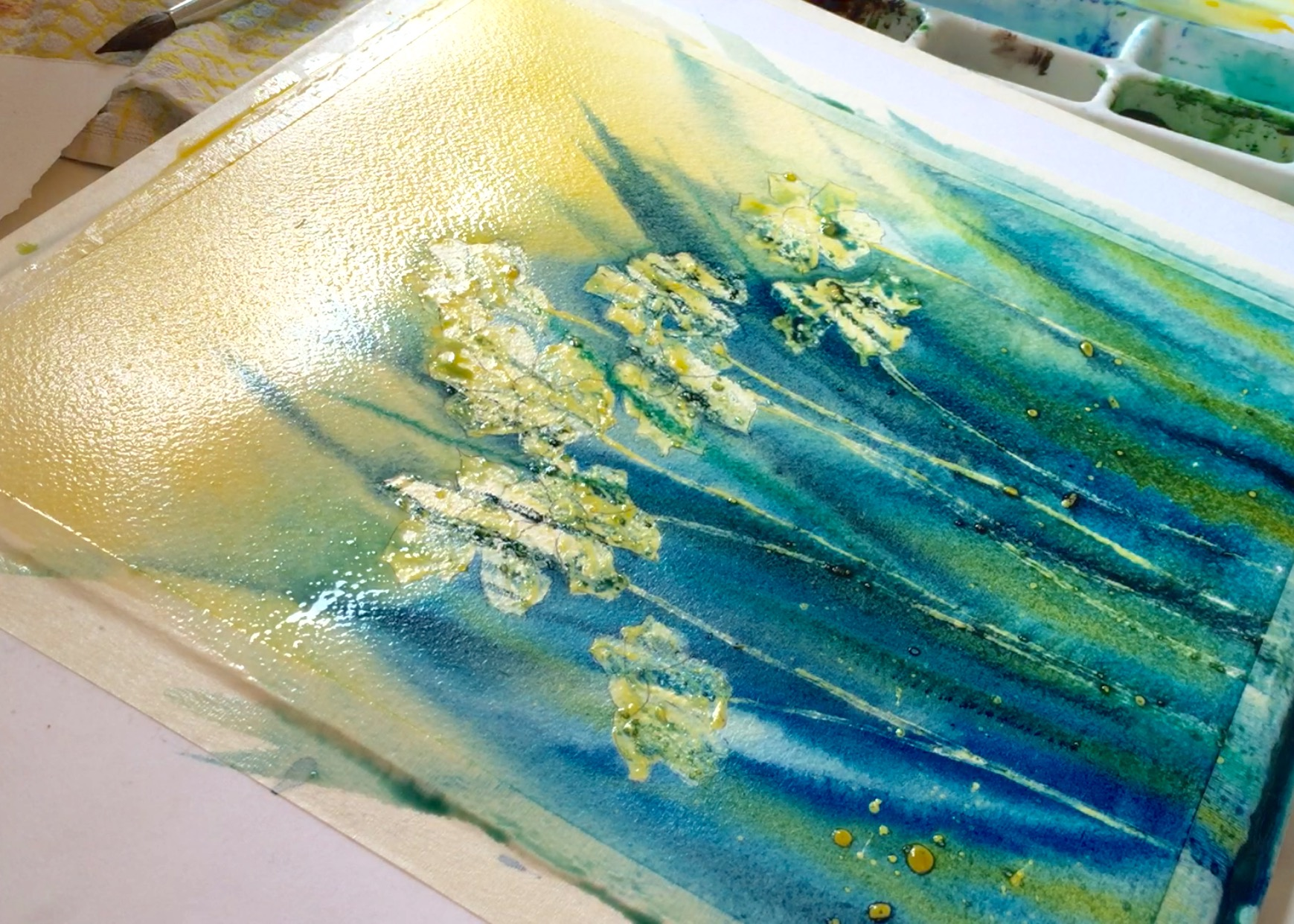Creating Natural Texture With Watercolor