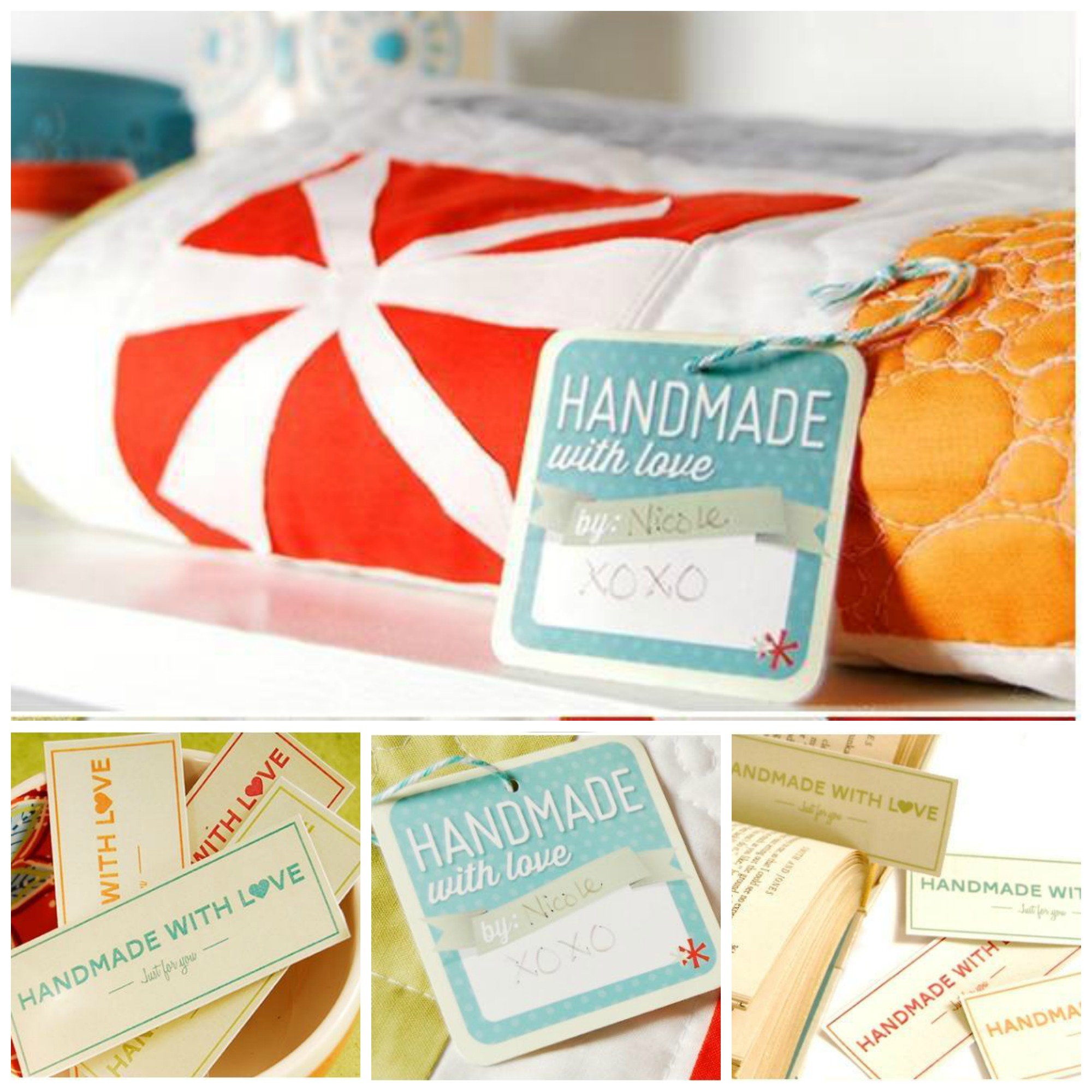 Free Handmade With Love Gift Tags