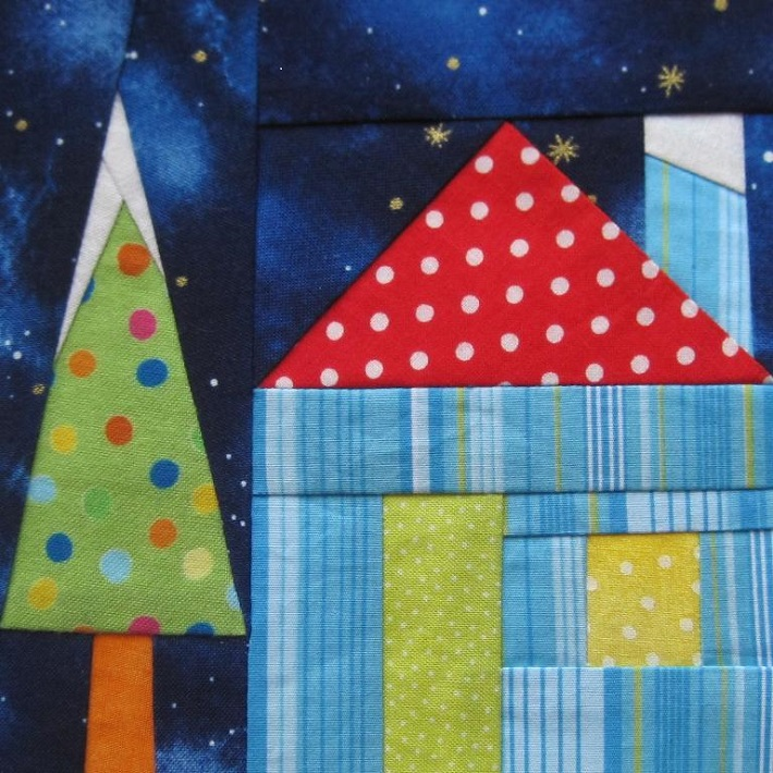 Holiday House paper pieced