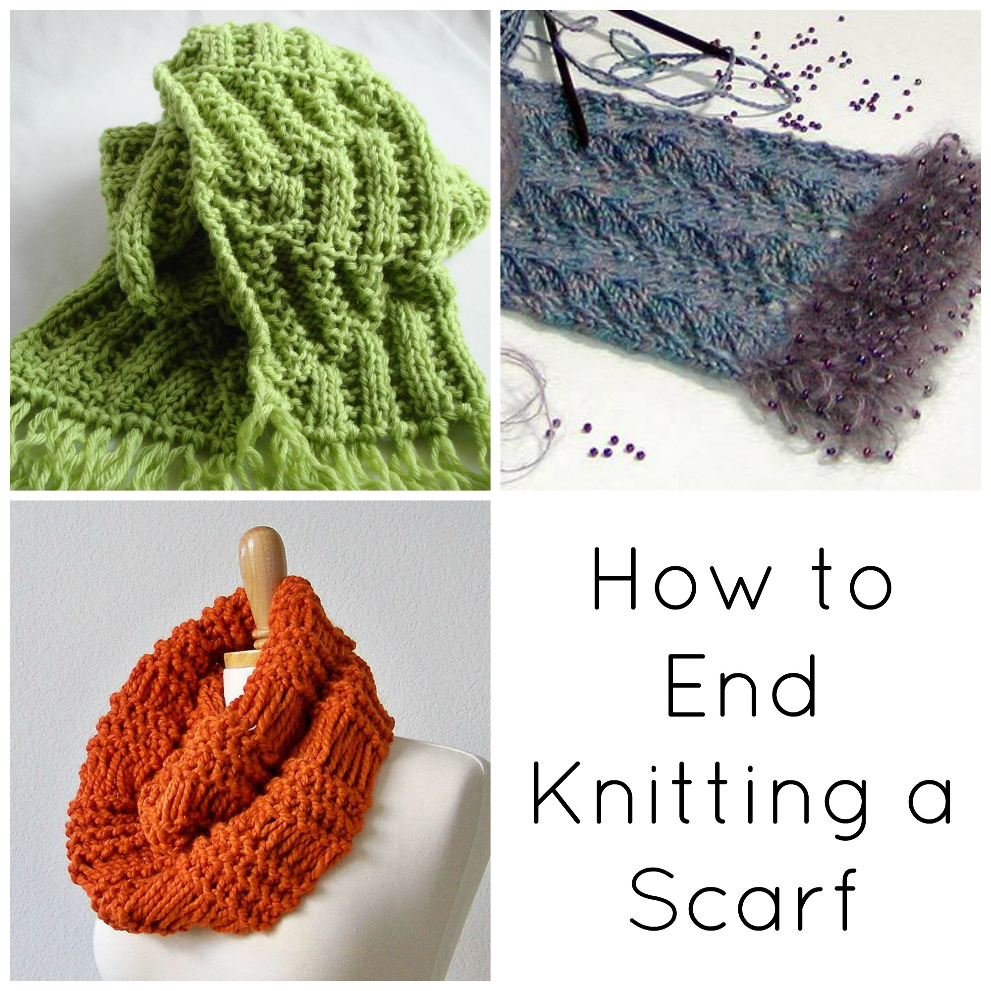 How to End Knitting a scarf