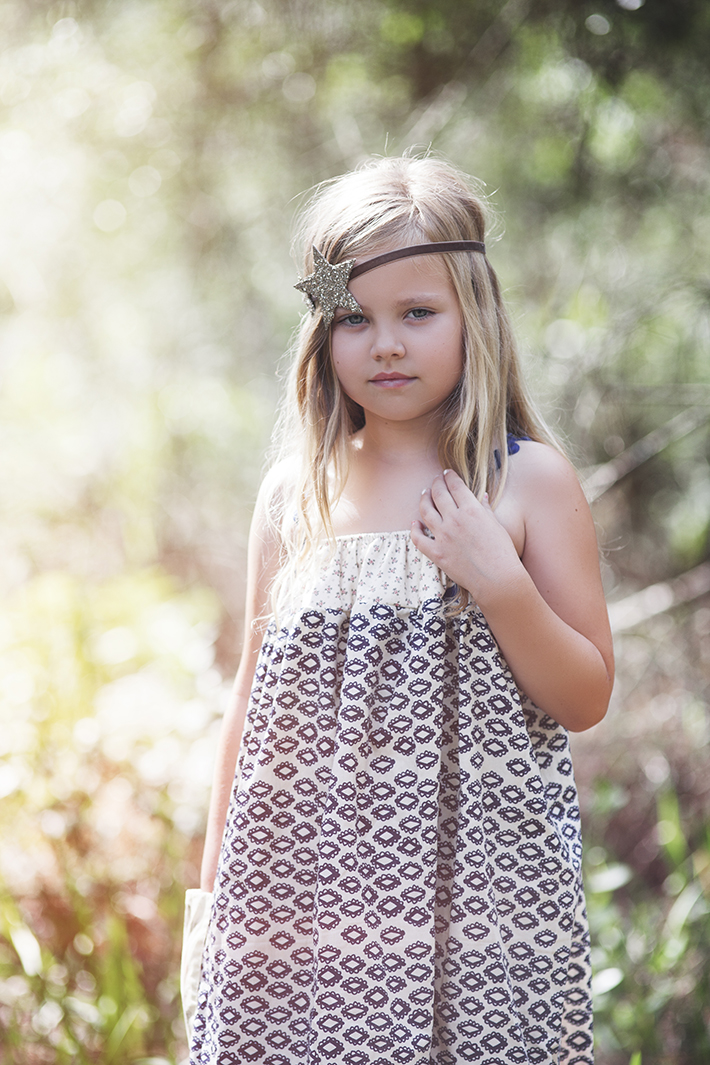 little girl modeling dress