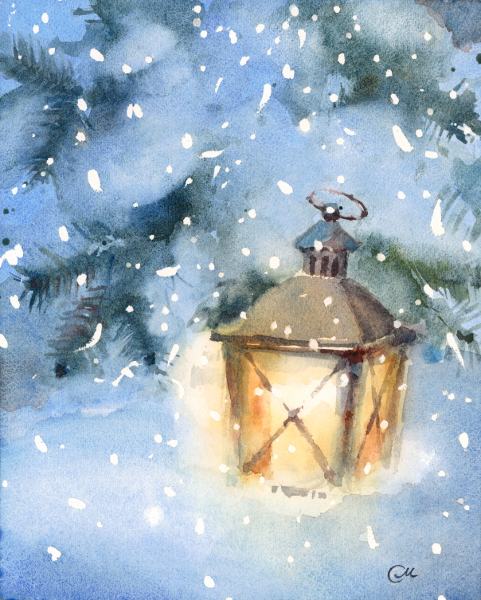 Lantern Watercolor