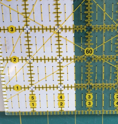 Lining Up Fabric With a Ruler