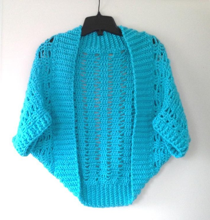 Ribbed lacy shrug for how to crochet a shrug