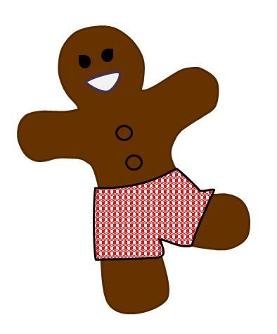 Running Gingerbread Cookie Dress Up
