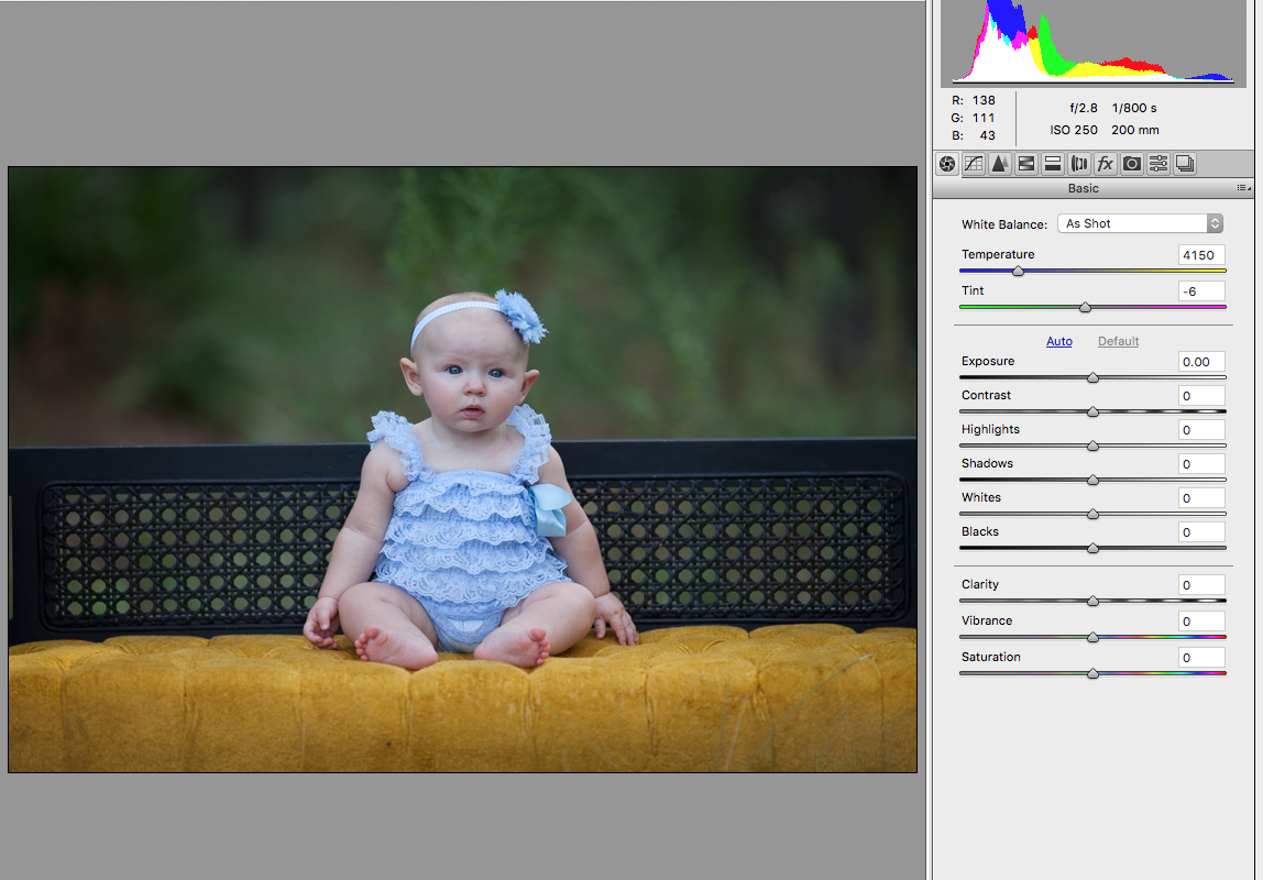 white balance sample correct baby girl