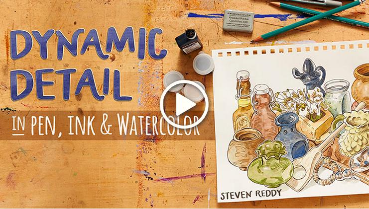 Dynamic Detail in Pen, Ink & Watercolor