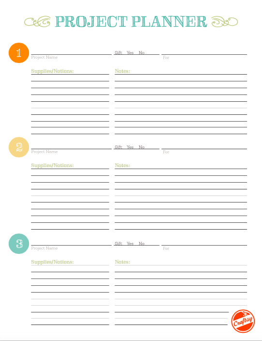 Bluprint Project Planner Worksheet