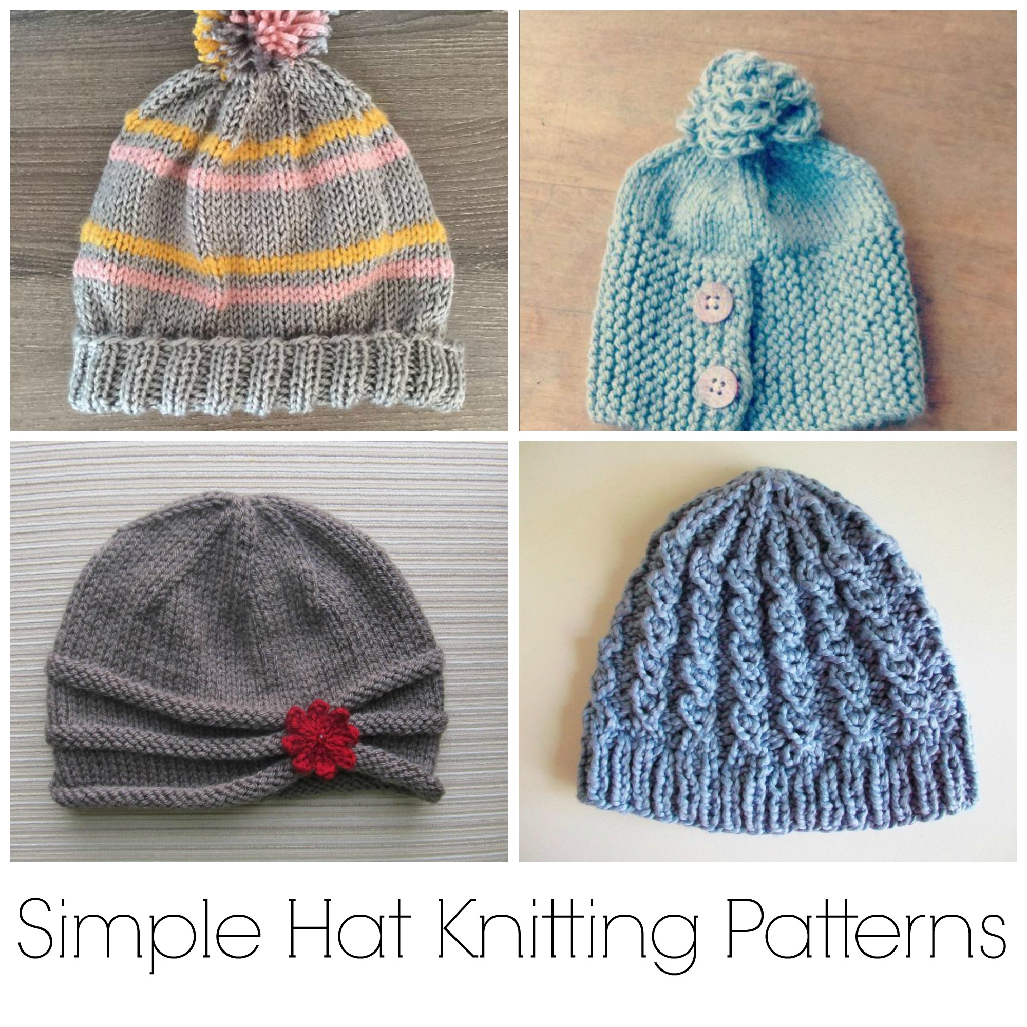Simple Hat Knitting Patterns