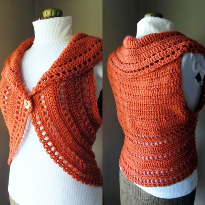 Simple collared lacy shrug for how to crochet a shrug