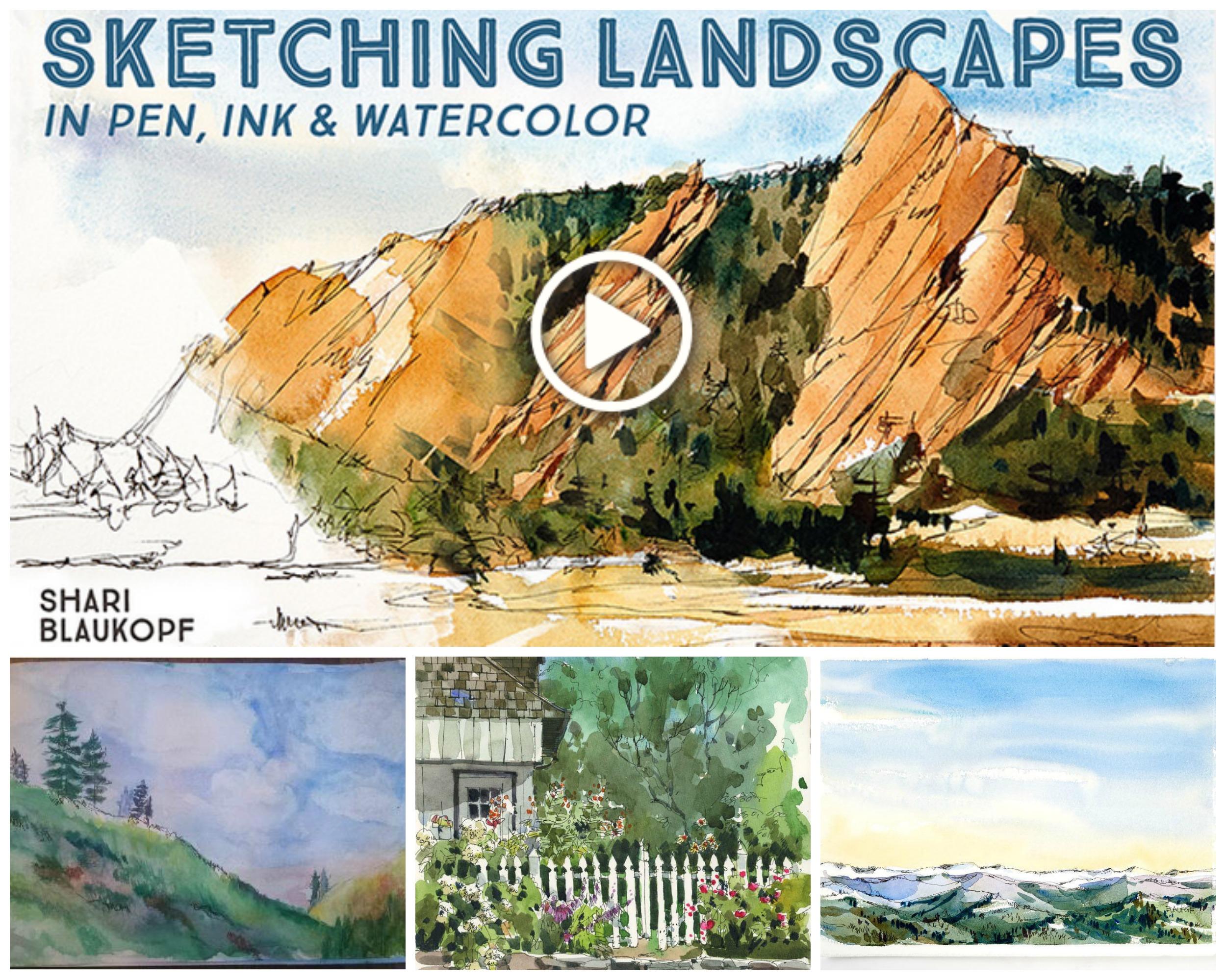 Sketching Landscapes Collage